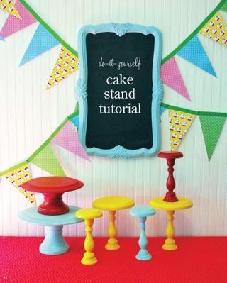 cake stand tutorial