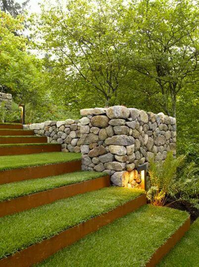 que bonitas escaleras para un jardn