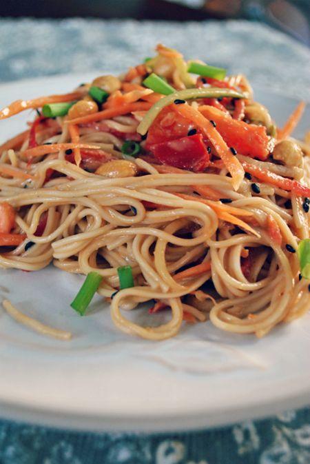 Hello Paper Moon: Favorite Vegetarian Meals: Peanut Noodles