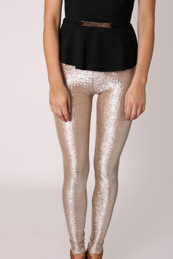 Metallic tights!