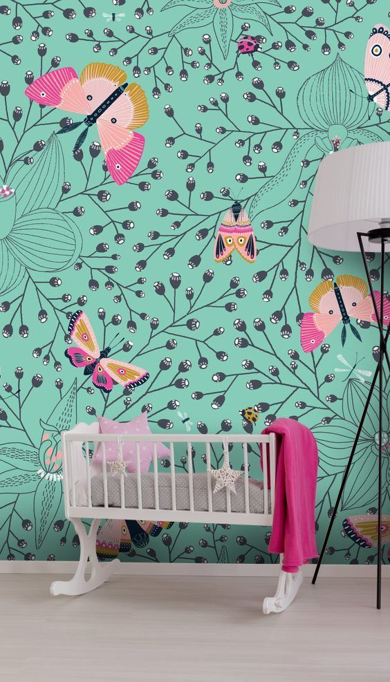 From Animals And Scenery To Education And The Solar System You Re Sure To Find The Perfect Childrens Wallpaper Mur Nursery Wallpaper Neutral Wall Murals Mural