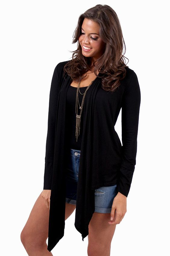 Every Which Way Black Cardigan