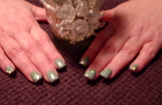 New OPI color for spring and summer with silver sparkles