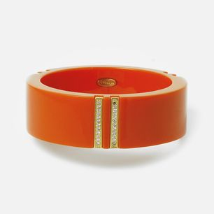 Papaya Vendome Lily Resin Bangle by ISHARYA Jewelry