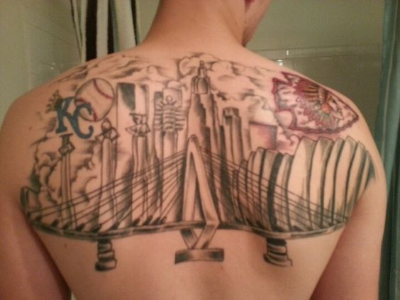 kansas city tattoo skyline tattoos pinterest city