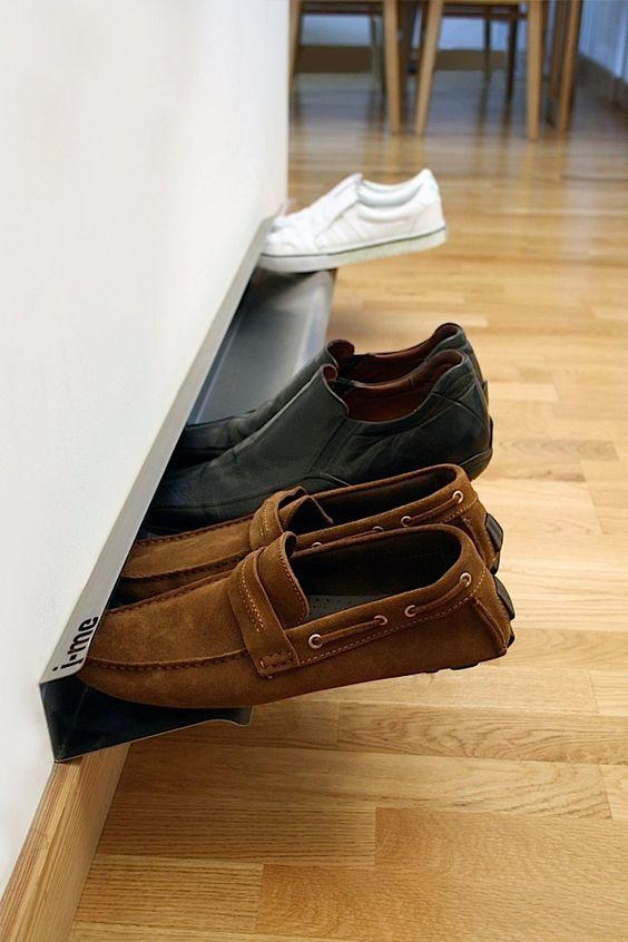 Das horizontale Schuhregal für schwebende Schuhe | KlonBlog