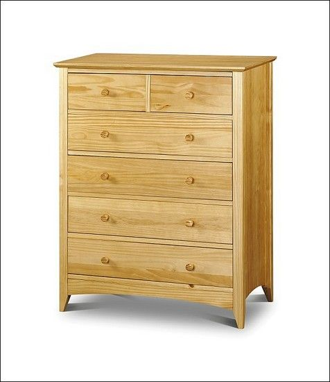 Kendal 4+2 Chest of Drawers Solid Pine