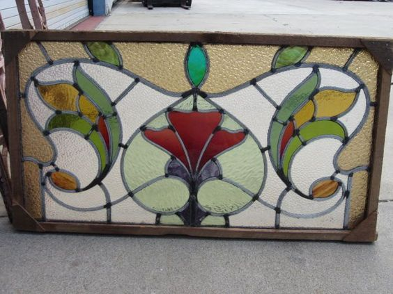 Antique English Stained Glass Windows | English Antique Stained Glass Window Architectural Antiques from ...