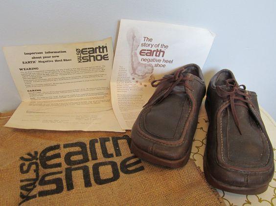 Original 70s Kalso Earth Shoes Moc Toe Mens 105 W