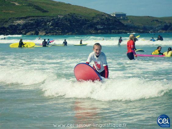 Surf à la Quiksilver Surf School à #Newquay pendant le séjour linguistique été à Paignton  .