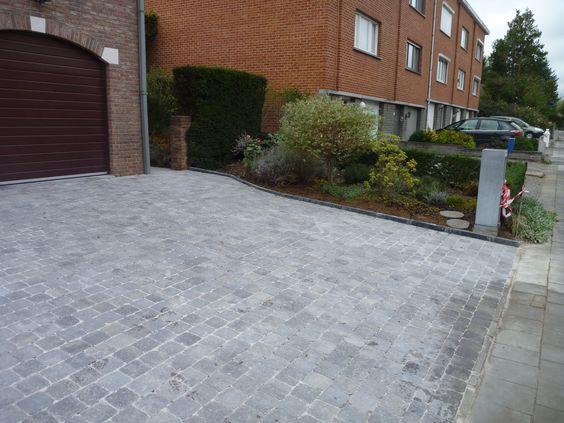 Pavage pour entrée de #garage http://www.architecte-paysagiste.be ...