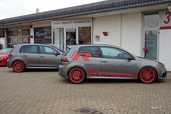 Vw Golf 6 R Matt Grey United Red Rader Oz Ultraleggera Custom