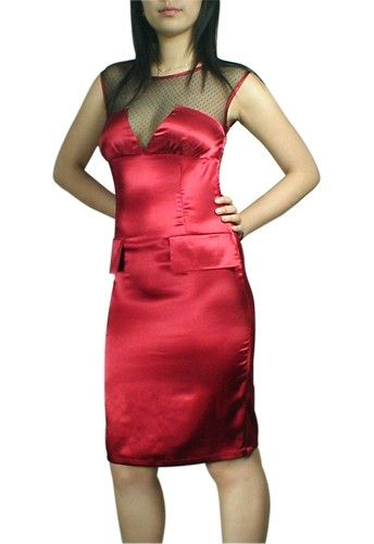Pin Up Dresses: Chiffon Pencil Pin Up Dress