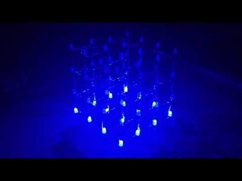 4x4x4 LED Cube (NEW CODE!): Direct to Arduino, less components