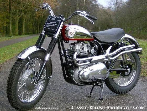 1962 bsa spitfire scrambler, bsa a10, bsa motorcycle pictures, racing motorcycles, classic racing motorcycles