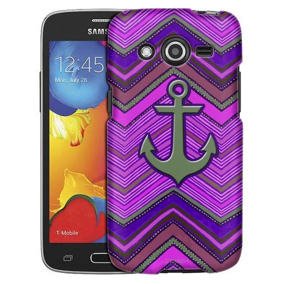Samsung Galaxy Avant Anchor on Aztec Neon Purple Slim Case