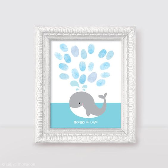 Pictures For Guests Fingerprints And Wishes: Nursery Art, Birthdays And Guest Books On Pinterest