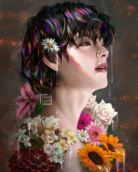 قبله منتصبه 18 Vk مكتملة Taehyung Fanart Bts Fanart Bts Drawings