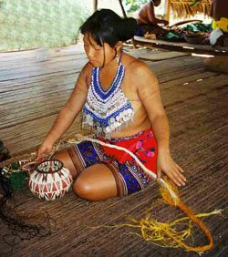 The first Comarca Indigena, official Indigenous territory in Panama was created in 1938 in the San Blas archipelago by the Kuna people. In the province of Darien, the Embera and Waounan people joined forces and organized themselves politically to create the Comarca Embera-Waounan in 1983. It encompasses the districts of Cemaco and Sambu