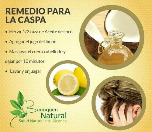 remedios naturales para la caida del cabello y caspa