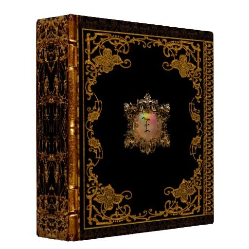 Lasher Antiqued Victorian Binders $20.95 - Personalized with your initial