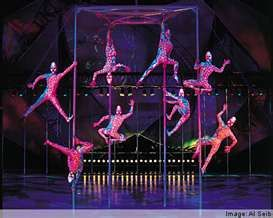 Cirque du Soleil - Watched this in Myrtle Beach - only it was the Adrenaline one, and was sweet!!