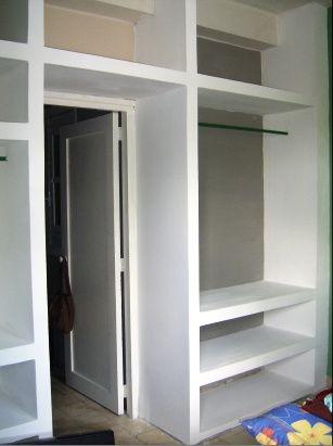 Closet de cemento buscar con google casas pinterest for Closet para recamaras modernas