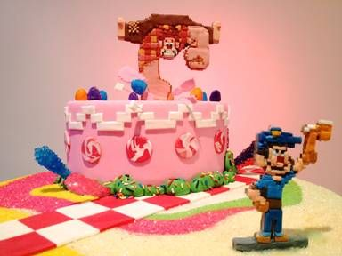 Wreck-It Ralph Build Your Own Game Cabinet + Awesome Cake