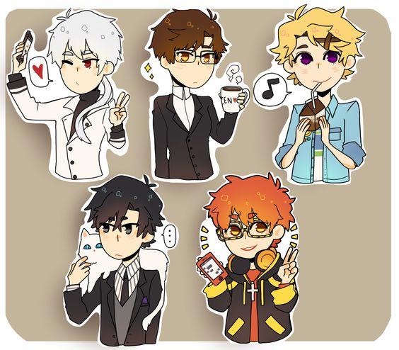 ╭( ・ㅂ・)و ̑̑ グッ !, Mystic Messenger stickers!!