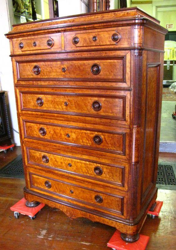 c1870 chest, Herter Bros, NYC-impressed 9-12.