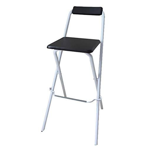 Bar Stool Folding Chair High Stool Folding Steel Frame Wood Seat
