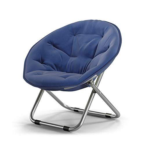 Llyu Foldable Moon Chair Chair Lazy Chair Recliner Round Chair