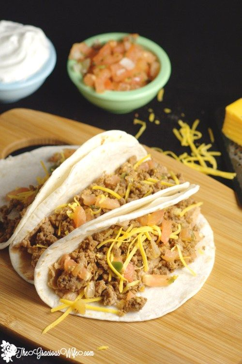 Tacos with Homemade Taco Seasoning - A quick and easy dinner recipe ...