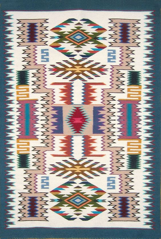 Ancient Weaving Patterns Navajo Rug By Lily Touchin