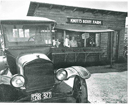 Vintage knotts berry farm wall decor model t car art print poster