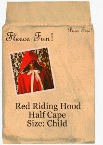Little Red Riding Hood Winter Cape