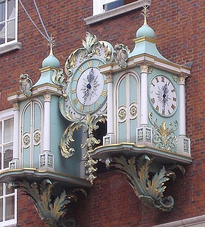 Fortnum and Mason, London - wait 'til the hour: the doors open, figures come out, music plays... fab!