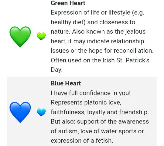 Heart emoji blue meaning What Does