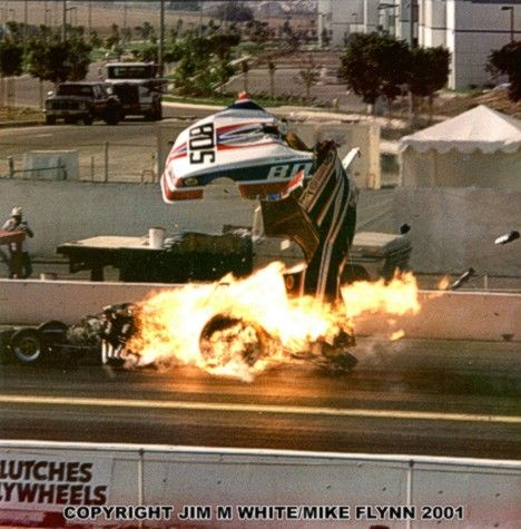 Jim Head S Funny Car Explodes In The Nhra Summer Nationals Drag