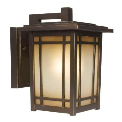 home decorators collection port oxford 1 light outdoor oil rubbed chestnut wall lantern 23212