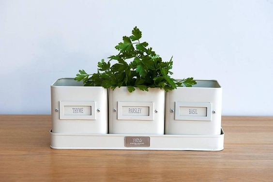 Kitchen Herb Pots By Freshly Forked Notonthehighstreet Home Styles Accessories And Gadgets Pinterest Kitchens Window Sill