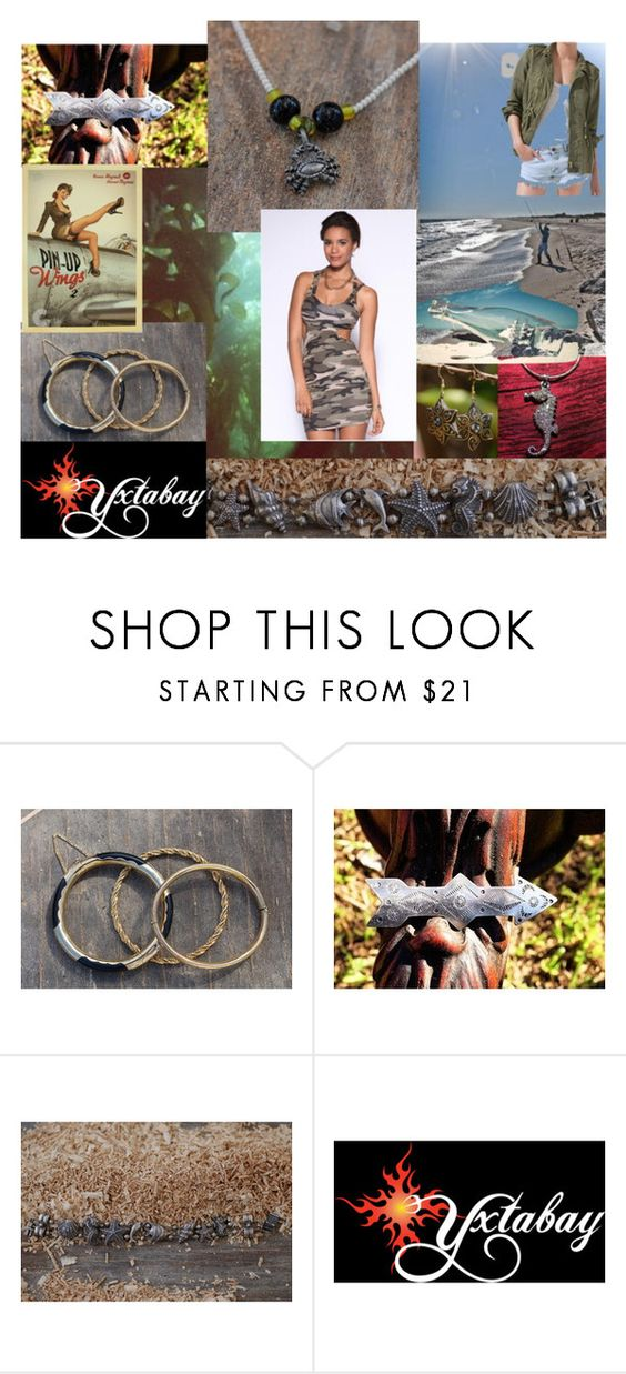 """Summery Camo"" by yxtabay ❤ liked on Polyvore featuring jewelry, pocpolyvore and Yxtabay"