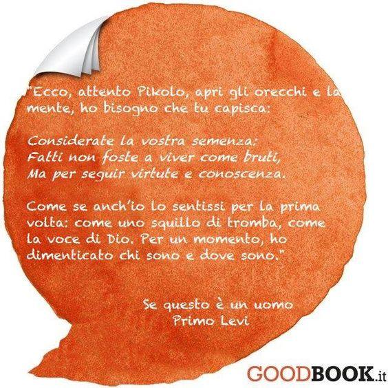 #primolevi #sequestoèunuomo #giornatadellamemoria #citazione #libro #lettura #dante #ulisse #divinacommedia #goodbook: