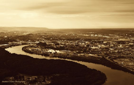 #Chattanooga, Tennessee #TN #River #South #Nature #Landscape #Sepia