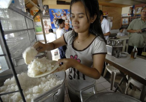 Rice typically contains 10 times more inorganic arsenic than other foods