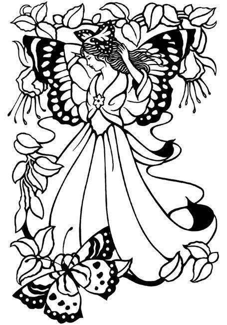 Fairies Free Coloring Pages Butterfly Coloring Page Angel Coloring Pages Fairy Coloring Pages