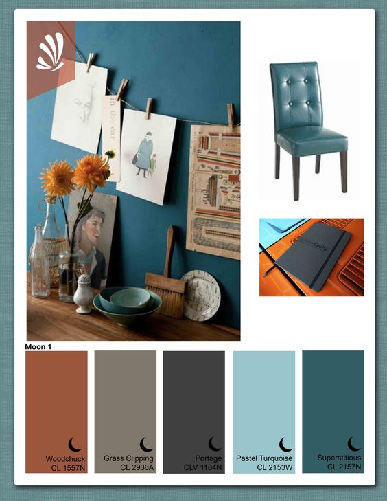 Burnt Orange Wall Paint Dining Room Contemporary With Aqua: Color Palette // Orange Teal Turquoise And Grey // Master