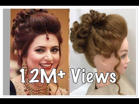 3 Beautiful Hairstyles With Puff Easy Wedding Hairstyles Youtube Easy And Beautiful Hairstyles Bun Hairstyles For Long Hair Prom Hairstyles For Long Hair