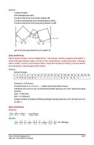 Pembahasan Soal Osn Guru Matematika Tingkat Propinsi Tahun 2014 Profe Guru Chart Bullet Journal