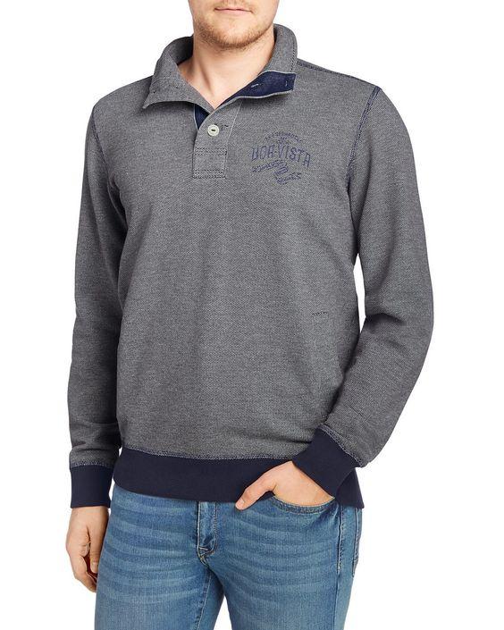 Sweatshirt    Exklusive Komfortmomente bietet dieses Arqueonautas Sweatshirt aus 65% Baumwolle und 35% Polyester. Ein stylischer Hingucker ist der knöpfbare Stehkragen, der mit einer 3-Knopf-Leiste versehen ist. Gerippte Ärmelbündchen und Saum versehen dieses Stück mit sinnlicher Haptik....
